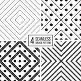 Set of geometric seamless pattern  diagonal lines and polka dot. Set of geometric seamless pattern of diagonal lines and point, abstract seamless background of Royalty Free Stock Photography
