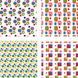 Set of geometric seamless patterns Royalty Free Stock Photo
