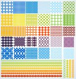 Set of geometric seamless patterns. Stock Photo
