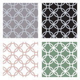 Set of geometric seamless patterns with circles Royalty Free Stock Photos