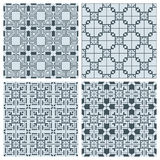 Set of geometric seamless patterns. Set of four geometric seamless patterns Stock Images