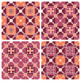 Set of geometric seamless patterns. Set of four geometric seamless patterns Royalty Free Stock Image