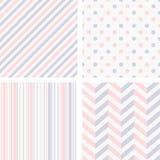 Set of 4 geometric seamless patterns Royalty Free Stock Image