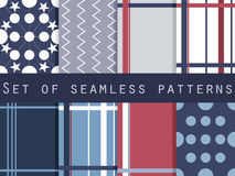 Set of geometric seamless patterns. Vector Royalty Free Stock Image