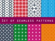 Set of geometric seamless patterns. Vector Stock Image