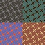 Set of geometric seamless patterns Royalty Free Stock Photo
