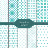 Set of geometric seamless patterns Stock Photography