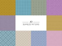 Set of geometric seamless patterns Royalty Free Stock Photos