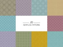 Set of geometric seamless patterns Stock Photography