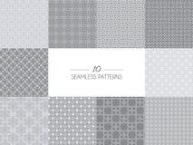 Set of geometric seamless patterns Stock Image