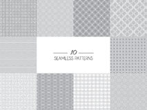 Set of geometric seamless patterns Royalty Free Stock Photography