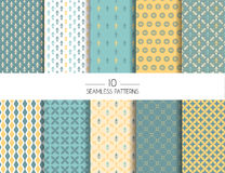 Set of geometric seamless patterns Royalty Free Stock Images