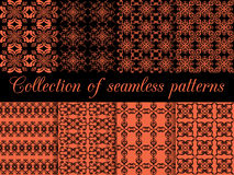 Set of geometric seamless patterns. Royalty Free Stock Images