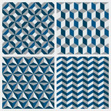 Set of geometric seamless patterns. Vector illustration. Stock Photography