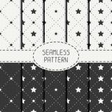Set of geometric seamless stars pattern Royalty Free Stock Photo