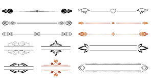 Vector set - geometric separators for design Royalty Free Stock Images
