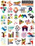 Set of geometric shape arrow info templates vector illustration