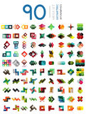 Set of geometric shaped infographic option banners Royalty Free Stock Images