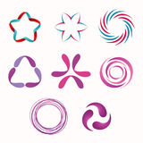 Set of geometric shapes. Abstract geometric shapes, symbols for your design. Vector shapes Stock Image