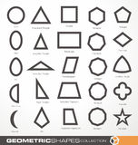 Set of geometric shapes Stock Image