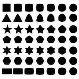 Set of geometric shapes, elements for logo Royalty Free Stock Image