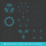 Set of geometric shapes, lowpoly shapes, triangles Royalty Free Stock Photography