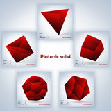 Set of geometric shapes, platonic solids Stock Image