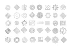 Set of geometric shapes. Trendy hipster background and logotypes. Religion, philosophy, spirituality, occultism symbols. Collection. Vector vector illustration