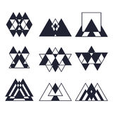 Set of geometric shapes. Trendy icons and logotypes. Religion, s Royalty Free Stock Images