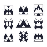 Set of geometric shapes. Trendy icons and logotypes. Religion, s Stock Photo