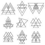 Set of geometric shapes. Trendy logotypes. Geometric icons Royalty Free Stock Photos