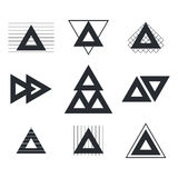 Set of geometric shapes triangles, lines for your design. Trendy Stock Image