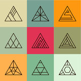 Set of geometric shapes, triangles. Trendy Stock Photography