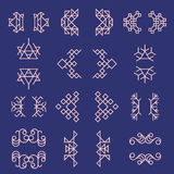 Set of geometric signs and frames Stock Photos