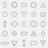 Set geometric signs, labels, and frames Royalty Free Stock Images