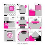 Furniture Sale Business Flyers for Social Media. royalty free illustration