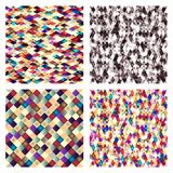 Set of geometric tiles with colored  rhombus. Royalty Free Stock Photo