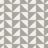 SET 27 Geometric Tiling Mosaic 48. Vector seamless pattern. Modern stylish abstract texture. Repeating geometric tiles from striped elements stock illustration