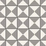 SET 27 Geometric Tiling Mosaic 48. Vector seamless pattern. Modern stylish abstract texture. Repeating geometric tiles from striped elements royalty free illustration