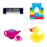 Set of geometric toys Royalty Free Stock Photos