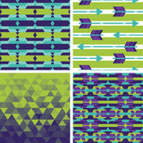 Set of geometric and tribal backgrounds Royalty Free Stock Photography
