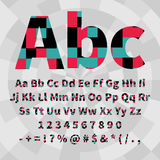 Set of geometric vector alphabet and numbers. Material geometry. EPS8 Vector Illustration