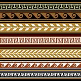 Set of geometric vector borders vector illustration