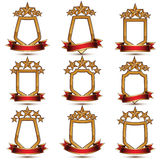Set of geometric vector glamorous golden elements  Royalty Free Stock Photo