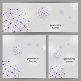Set of geometrical banners Stock Photos
