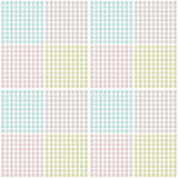 Set of geometrical floral dot textures Royalty Free Stock Images