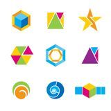 Set of geometrical logos Stock Images