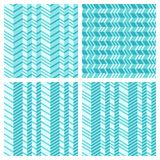 Set of geometrical seamless flat pattern Stock Photography