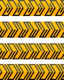 Set of geometrical seamless patterned borders Stock Photo
