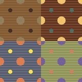 Set geometrische nahtlose Muster Stockfotos